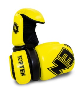 Rękawice Pointfighter Glossy Block - TOP TEN - NEON YELLOW