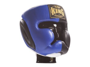 "KASK BOKSERSKI SPARINGOWY TOP KING TKHGEC-LV (421) ""EXTRA COVERAGE"" (black/blue)"