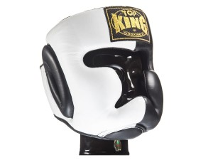 "KASK BOKSERSKI SPARINGOWY TOP KING TKHGEC-LV (122) ""EXTRA COVERAGE"" (black/white)"